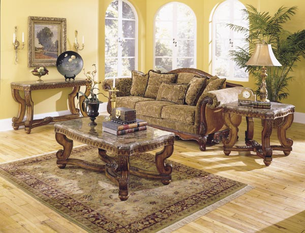 Washington Coffee Table Set With Marble Tops Von Furniture