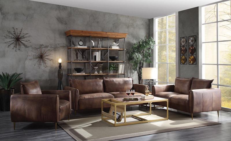 Burgess Leather Living Room Set