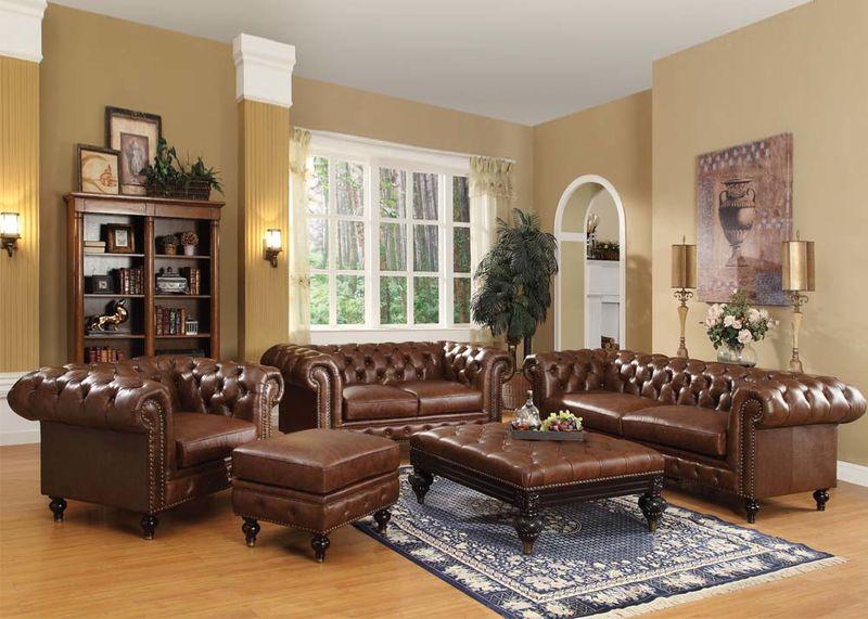 Shantoria Formal Living Room Set in Brown