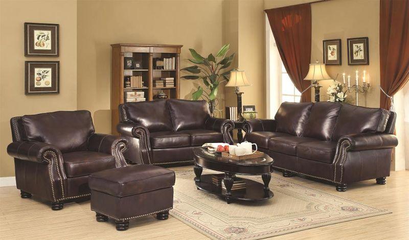 Briscoe Leather Living Room Set