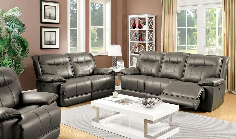Dolton Reclining Living Room Set in Gray