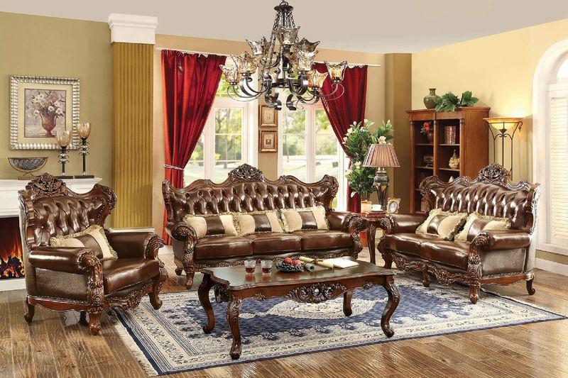 Jericho Formal Leather Living Room Set