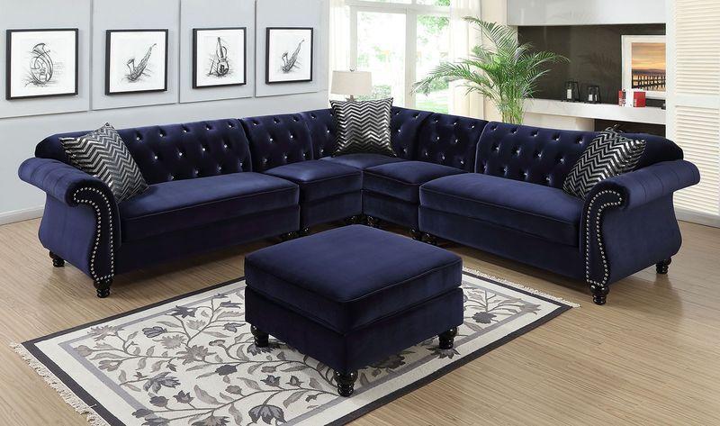 Jolanda Sectional Sofa in Blue