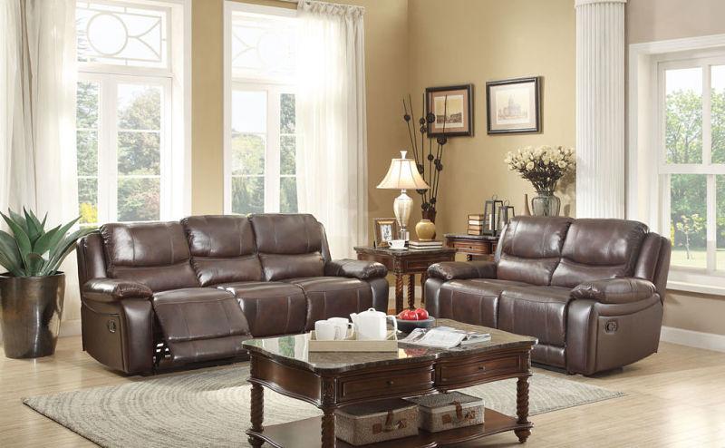 Allenwood Reclining Leather Living Room Set