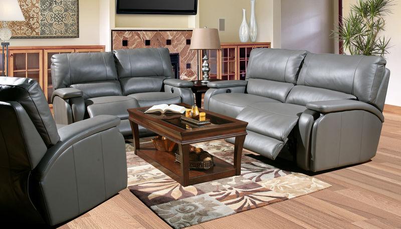 Grisham Reclining Leather Living Room Set