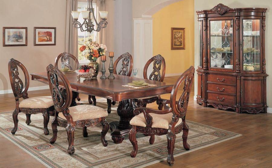 turnbridge formal cherry dining room set with pedestal