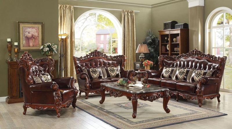Eustoma Formal Leather Living Room Set