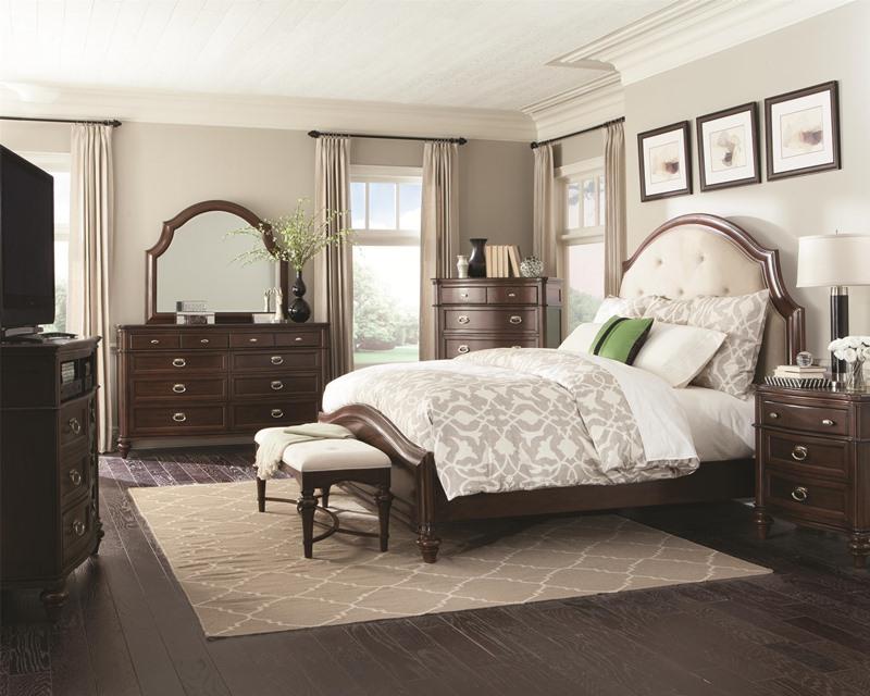 Sherwood Bedroom Set with Upholstered Headboard
