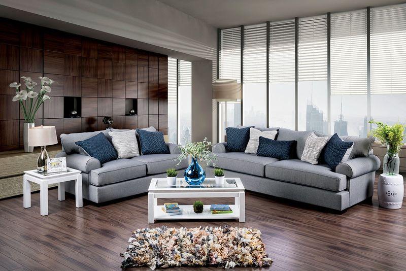 Gilda Living Room Set in Gray