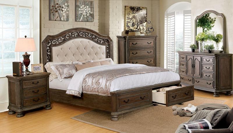 Persephone Bedroom Set with Storage Drawers