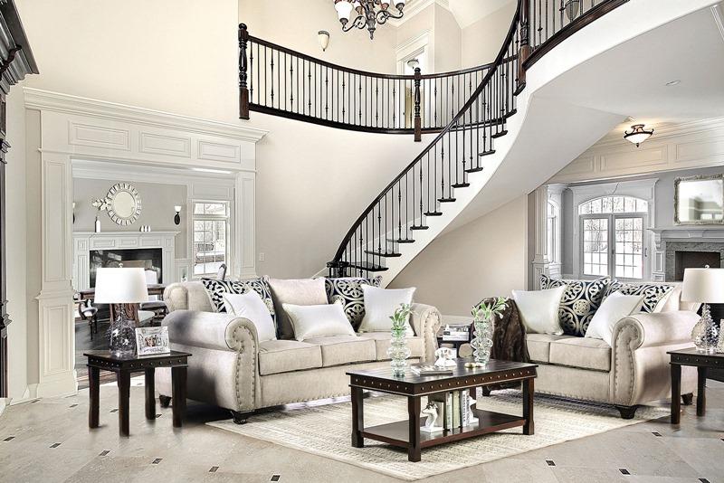 Sinatra Living Room Set in Light Mocha