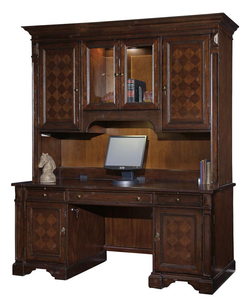 Havana Computer Desk with Hutch