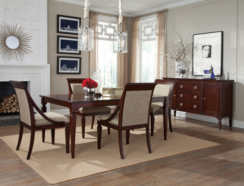 von furniture vendome large round formal dining room set