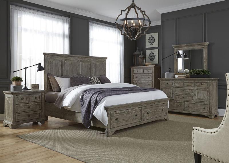 Highlands 4 Piece Queen Storage Bedroom Set