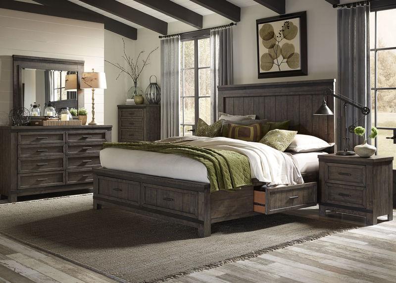 Thornwood Hills 4 Piece Queen 2 Sided Storage Bedroom Set