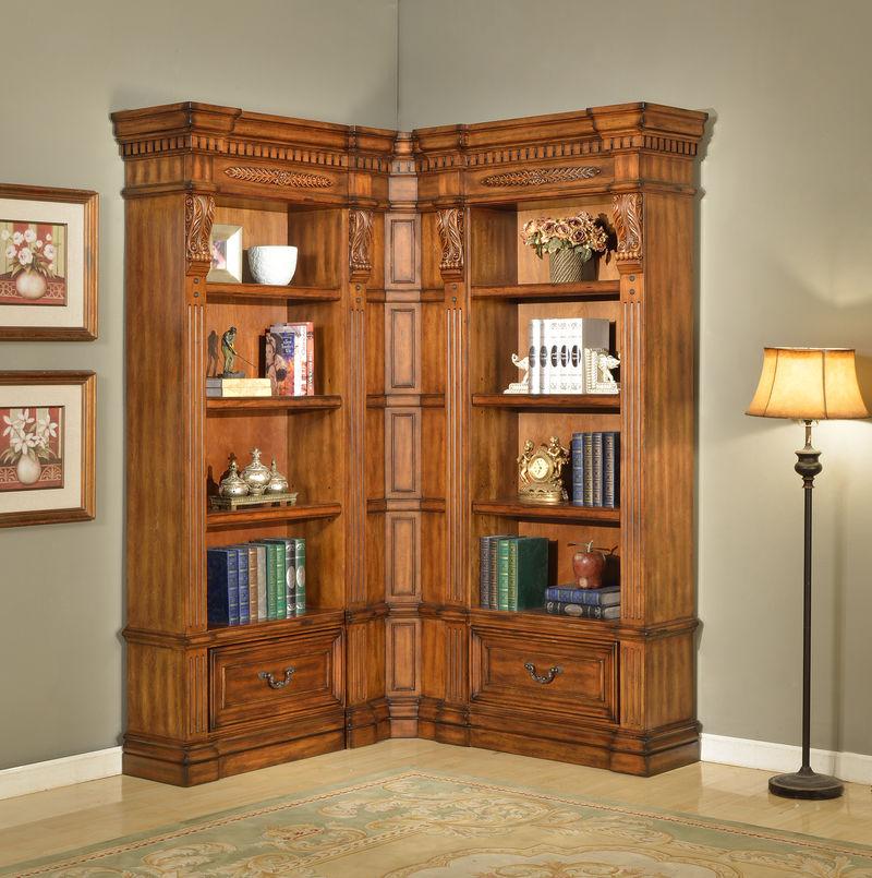 Granada Museum Corner Bookcase - Small