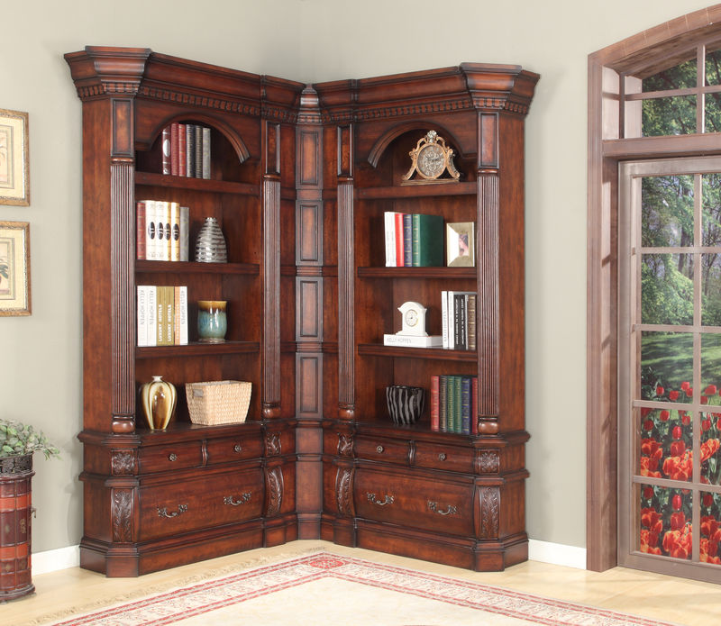 Versailles Museum Corner Bookcase - Small