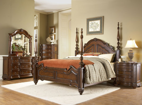 worcester master high end bedroom sets with poster bed von furniture