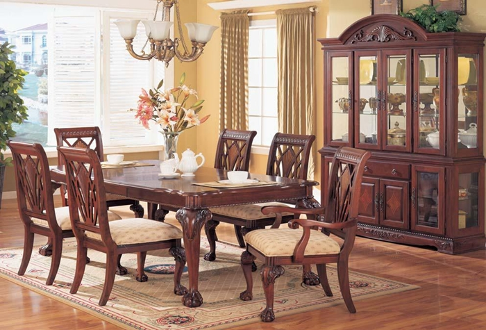 Dining Room With China Cabinet The Preston Cherry Dining Room Table