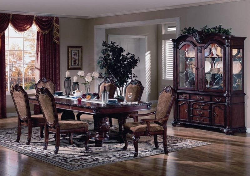 Chateau de ville cherry dining room table set von furniture for Formal dining room sets