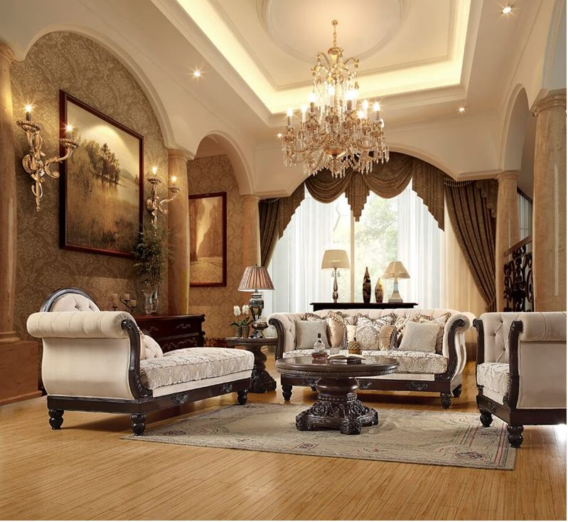 810733 Abby Formal Living Room Set Von Furniture Free Shipping