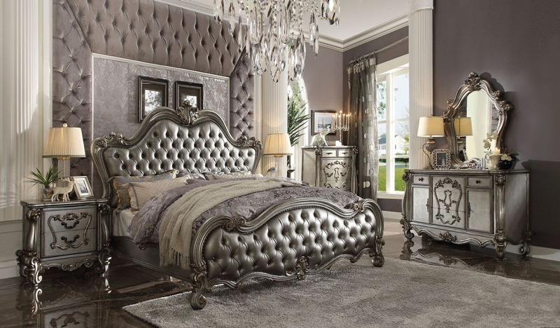 Versailles Bedroom Set in Antique Platinum