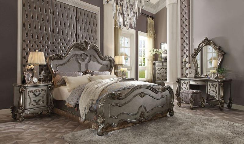 Versailles Bedroom Set in Antique Platinum