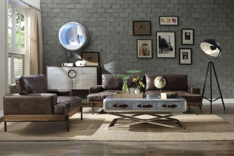 Silchester Leather Living Room Set