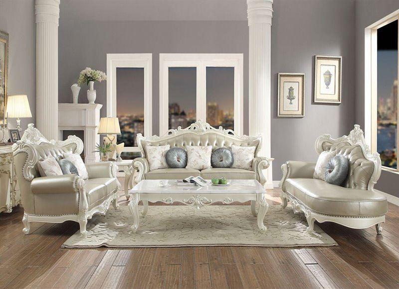 Erigeron Formal Leather Living Room Set