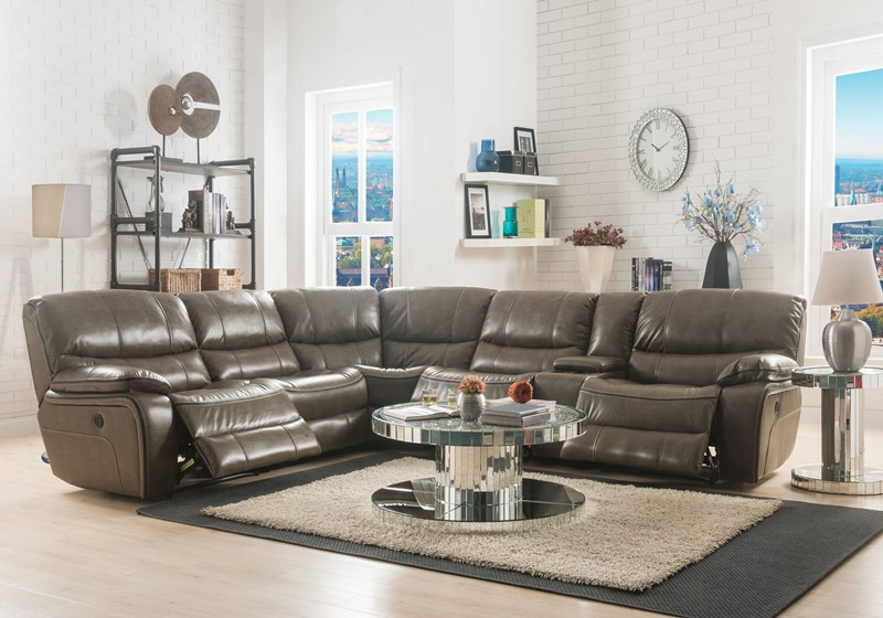 Brax Reclining Sectional in Taupe