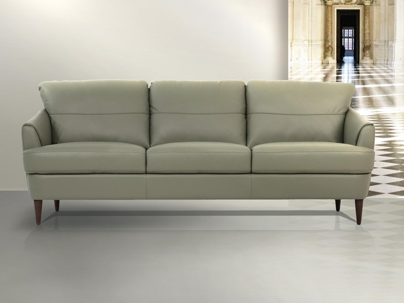 Helena Leather Living Room Set in Green