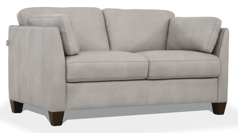 Matias Leather Living Room Set in White