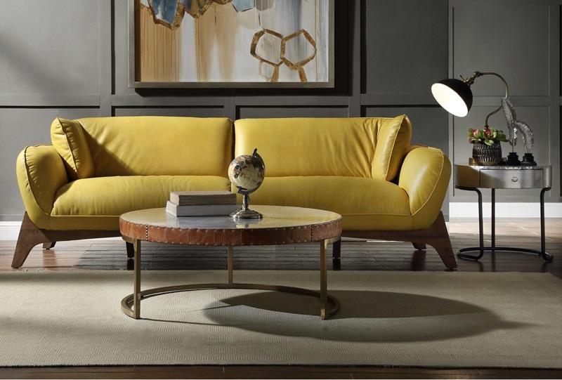 Pesach Leather Sofa