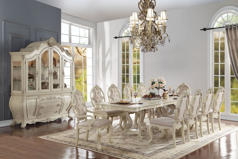 61280 Ragenardus Formal Dining Room Set in Antique White | Acme Furniture |  Free Shipping