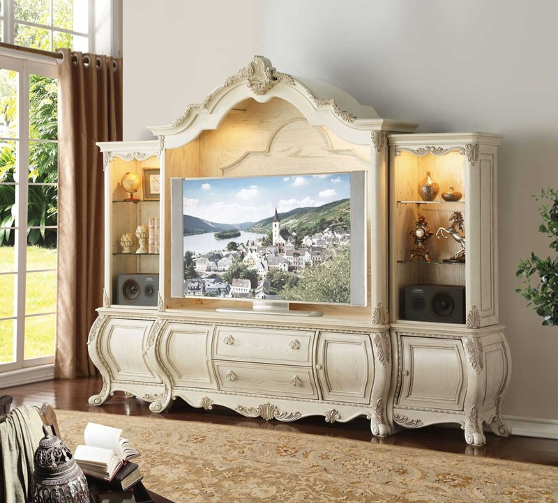 Ragenardus Entertainment Center in White
