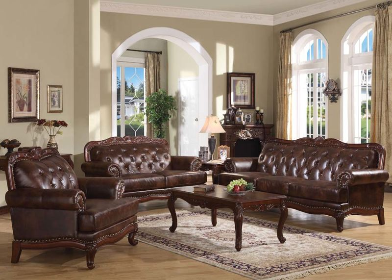 von furniture birmingham formal leather living room set