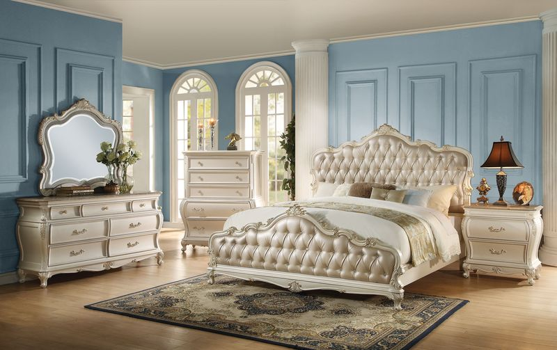 23540Q Chantelle White Bedroom Set | Acme Furniture | Free Shipping