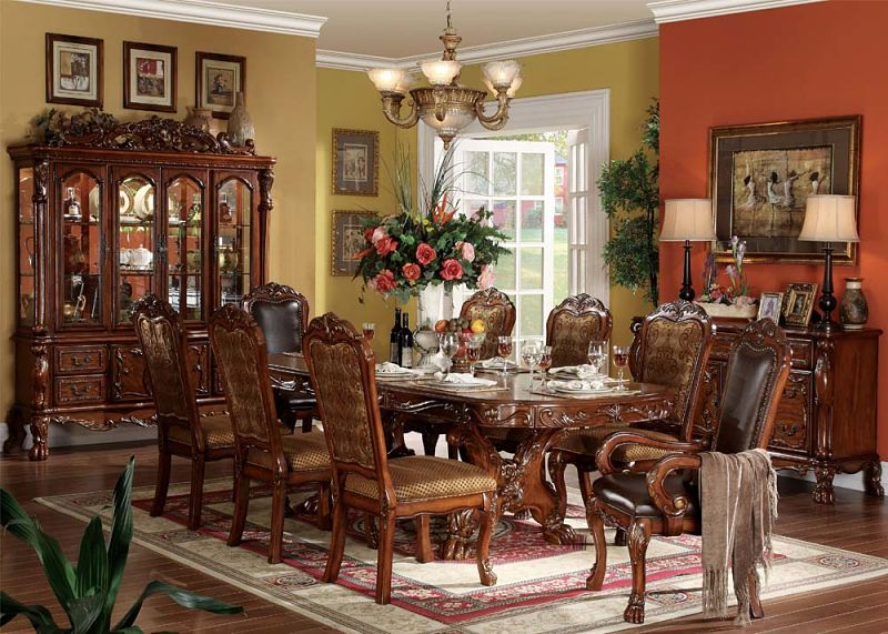 12150 dresden formal dining room set in cherry traditional elegant
