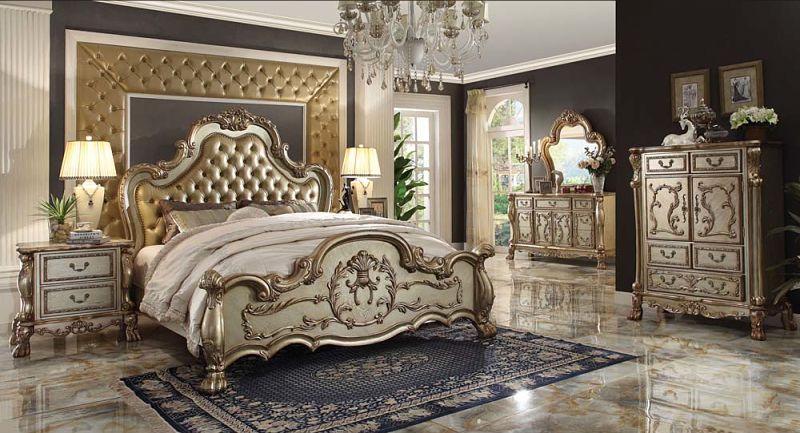 Dresden Bedroom Set in Gold