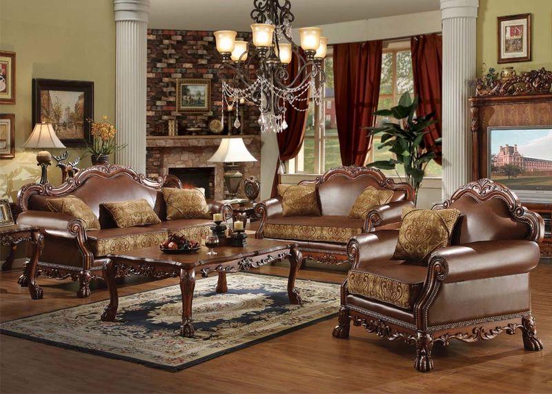 Dresden Formal Living Room Set in Cherry