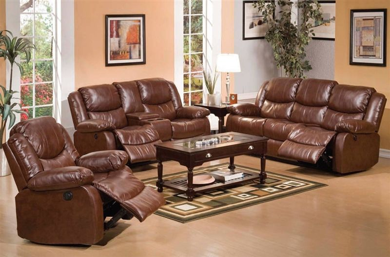 Von Furniture Fullerton Reclining Living Room Set With Power Motion In Brown