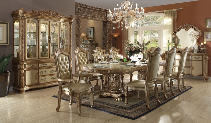 0fcdc2f8fe39 63000 Vendome Formal Dining Room Set in Gold