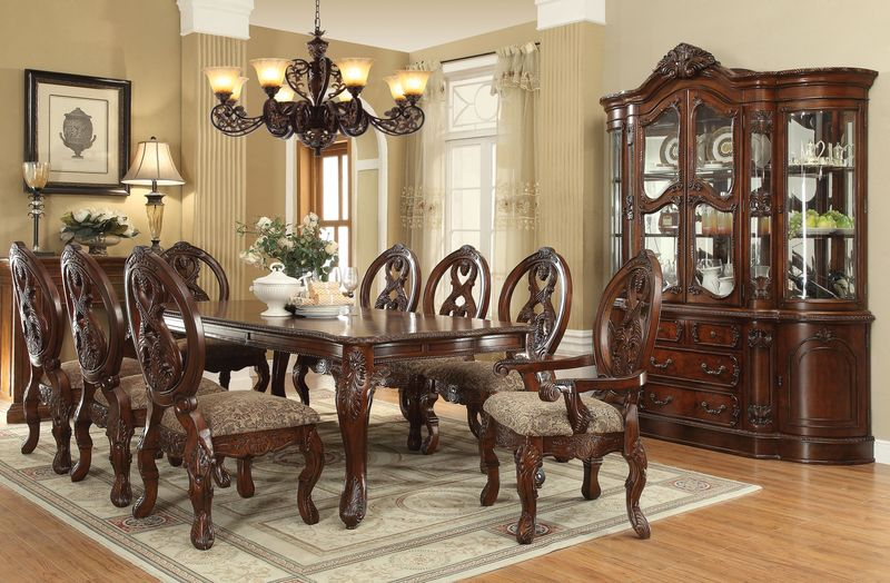 von furniture rovledo formal dining room set with leg table