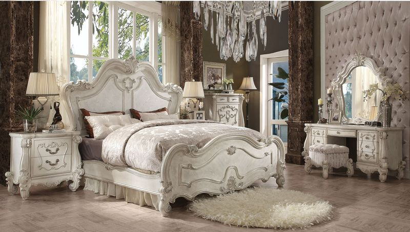 Versailles Bedroom Set in Bone White
