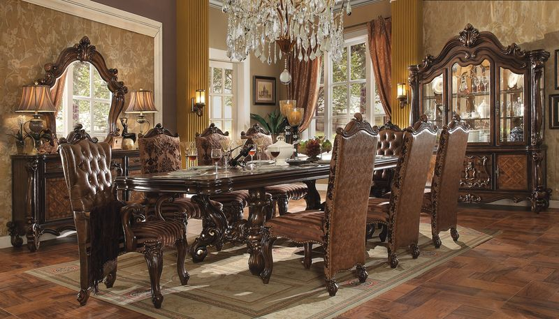 formal square dining room table for 8 sets with hutch and buffet large set cherry ashley