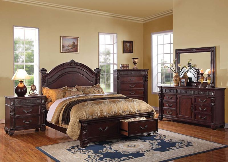 Vevila Bedroom Set with Storage Bed