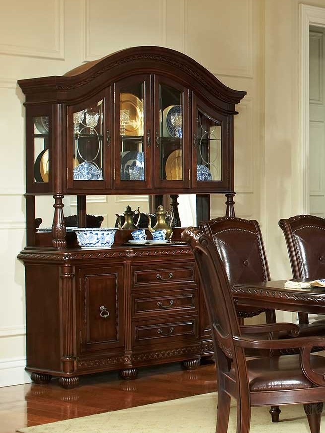Gable formal cherry dining room table set von furniture for Formal dining room furniture