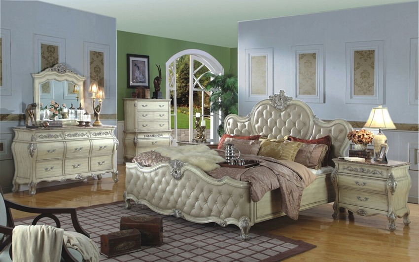 Antique White Wash Bedroom Set The Bourgeois Bedroom Set In Antique