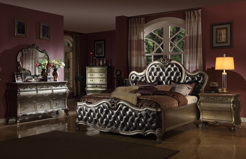 Antique Silver Victorian Bedroom Set On Sale With Free Shipping
