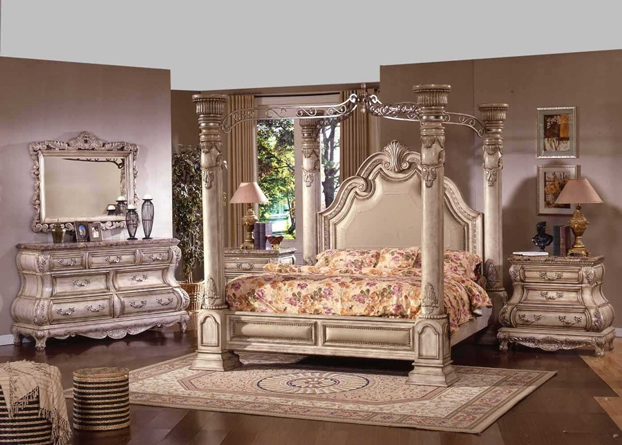 imperial antique white wash bedroom set von furniture
